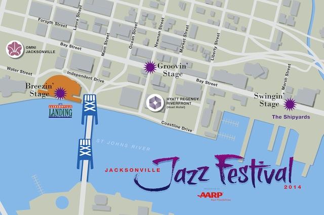 Jacksonville Jazz Festival Map