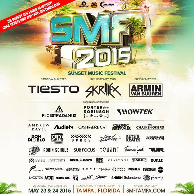 SMF 2015, sunset music festival