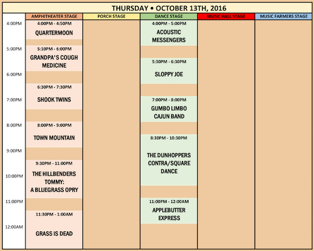 Suwannee Roots Revival Schedule