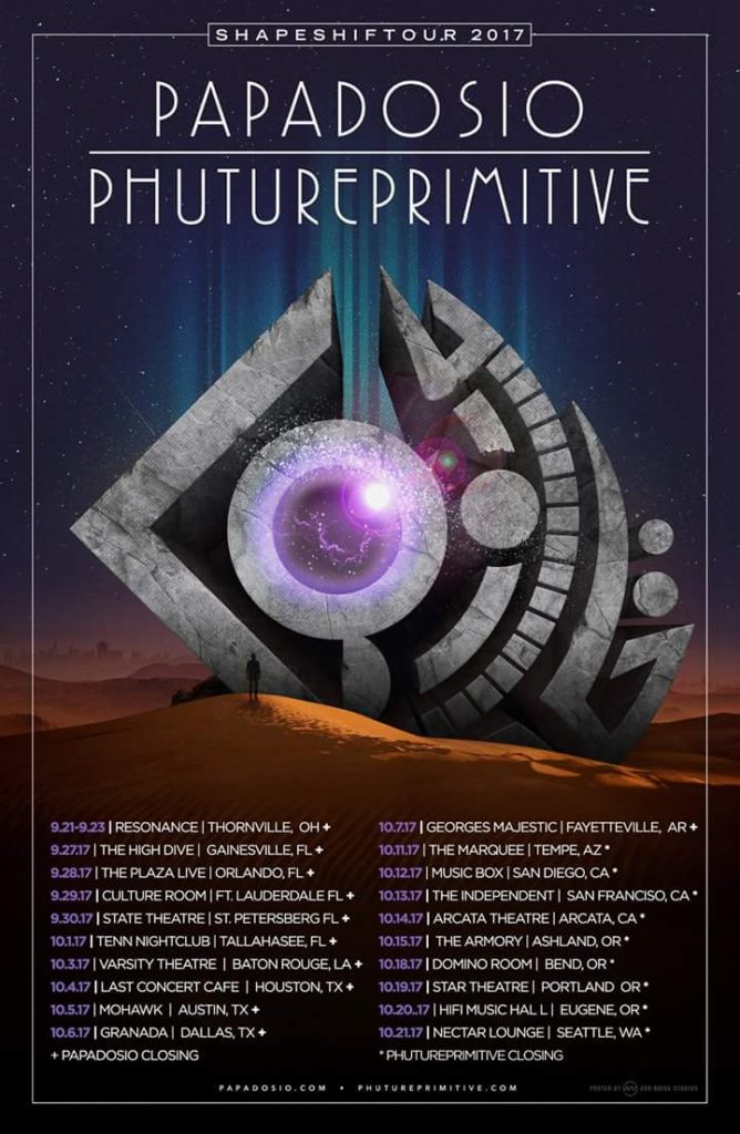 papadosio phutureprimitive shapeshift tour