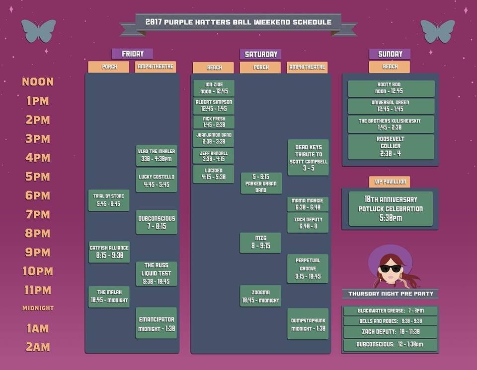 phb schedule