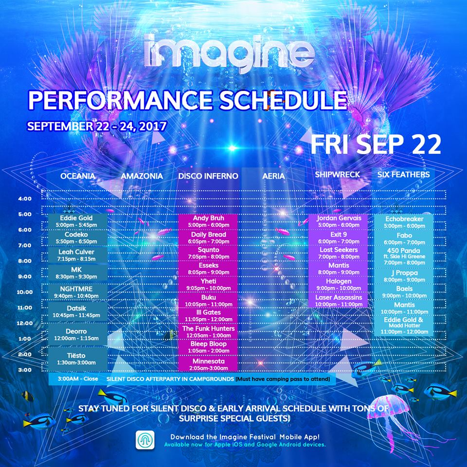 imagine festival 2017 friday schedule