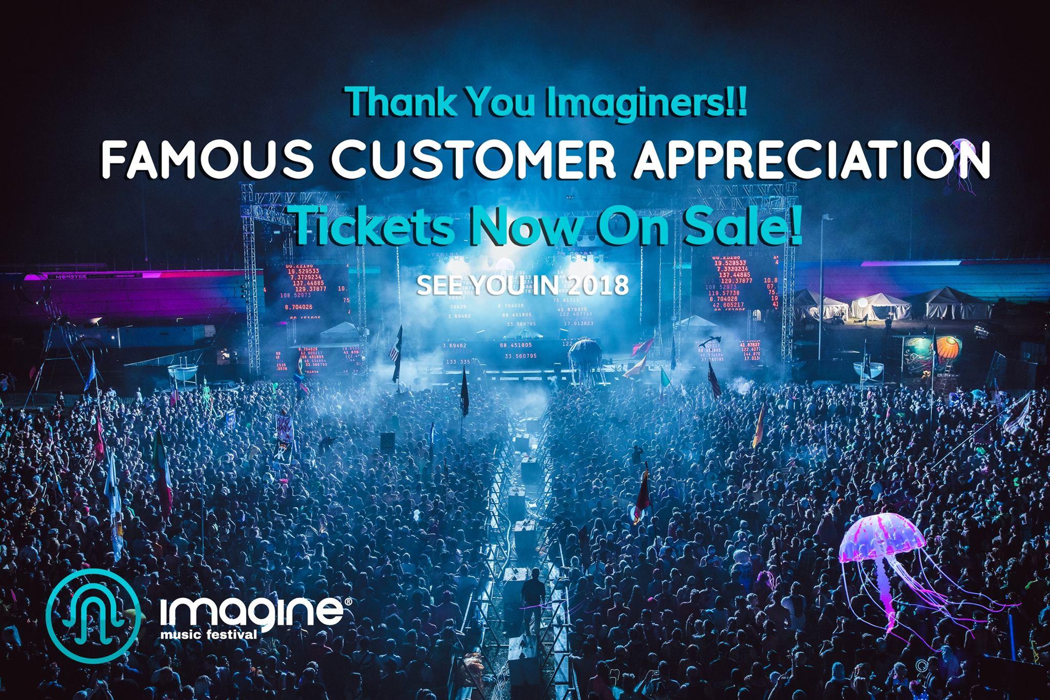 imagine festival customer appreciation