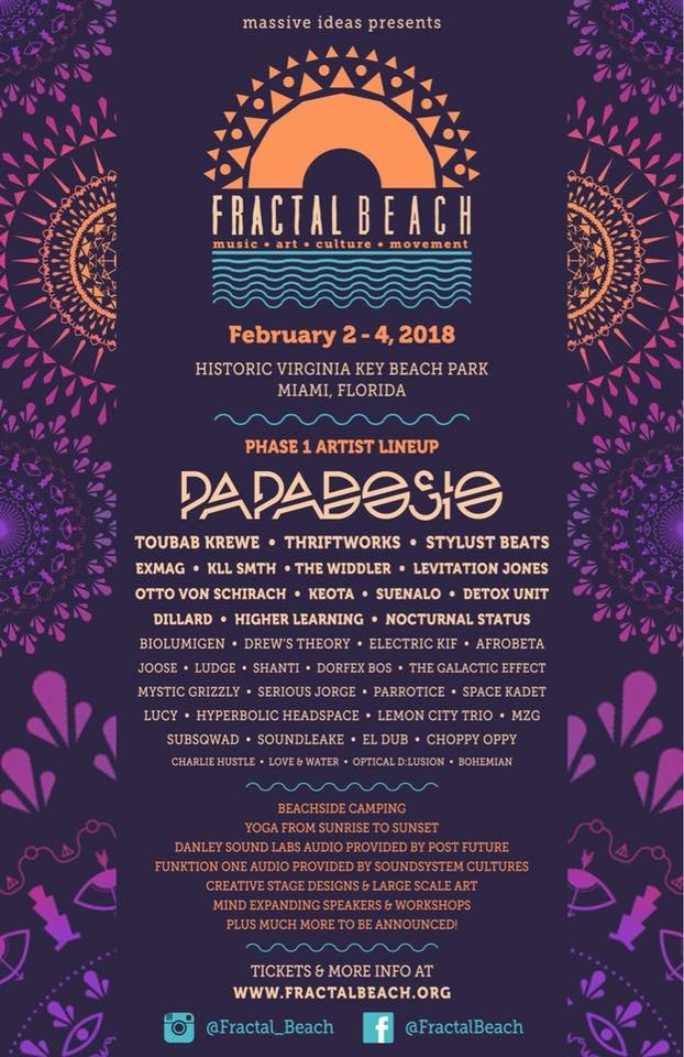 Fractal Beach 2018 Phase 1 Lineup