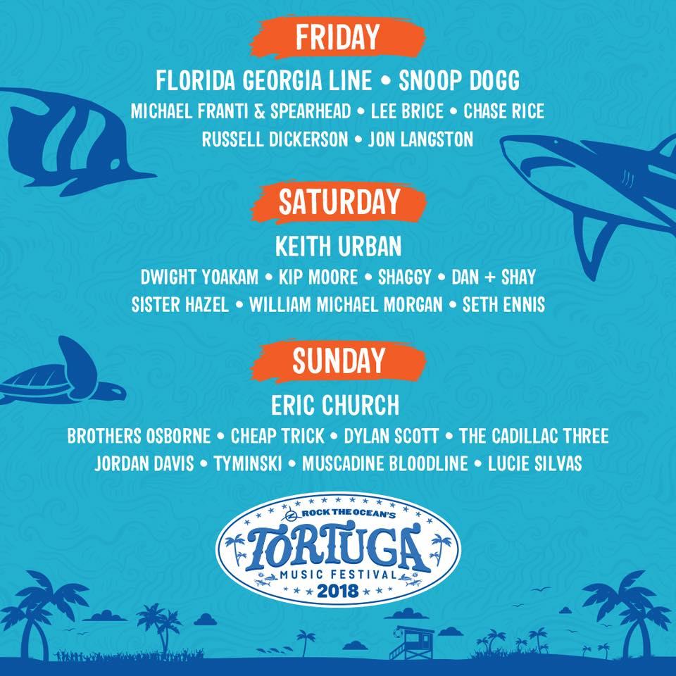 Tortuga Music Festival 2018_feb update