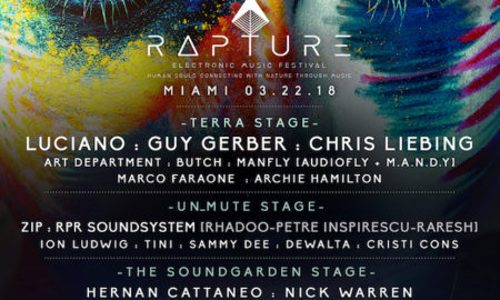 rapture electronic music festival lineup 2018