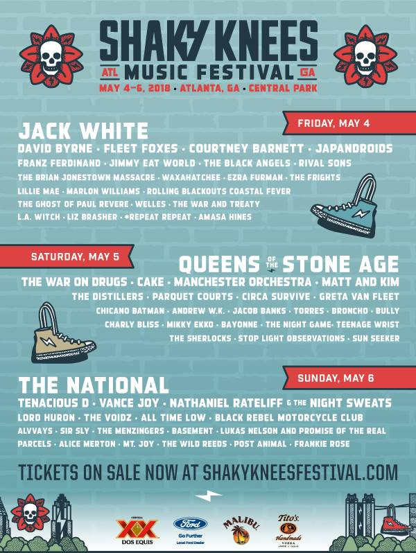shaky knees music festival 2018_feb update