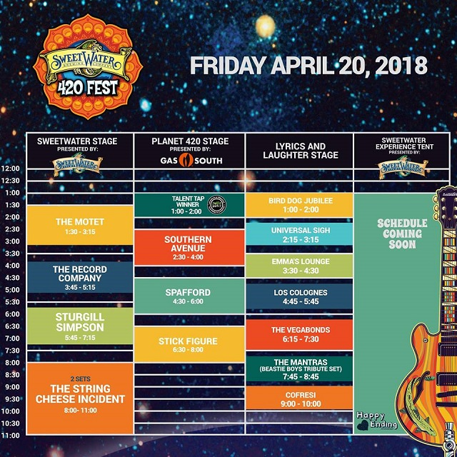 sweetwater 420 fest schedule_friday