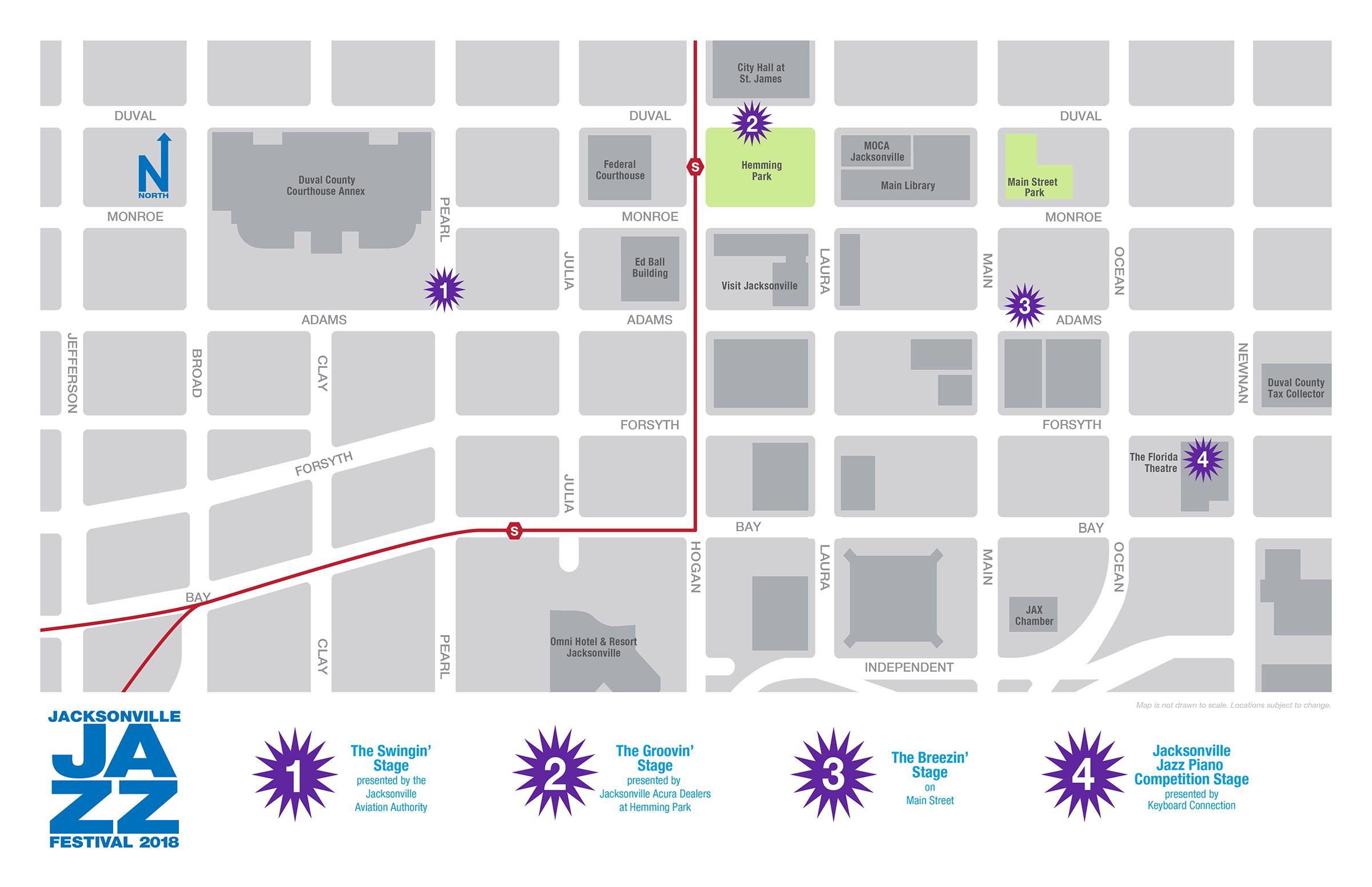 Jacksonville Jazz Festival 2018 Map