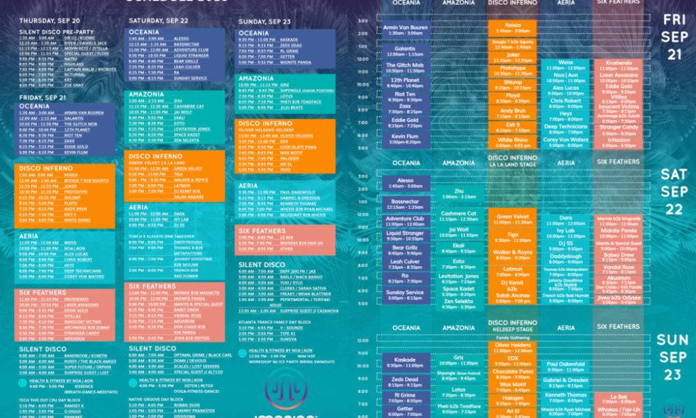 Imagine Music Festival Daily Schedule